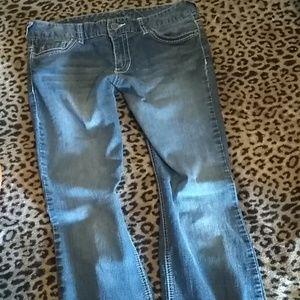 Maurice's stonewash straight jeans (11/12 L)